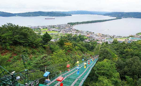 天橋立が一望できる、ケーブルカーで行く傘松公園が穴場!?